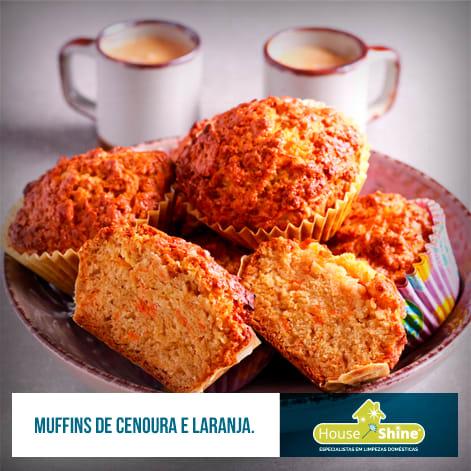Muffins de Cenoura Laranja